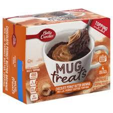 brownie a la taza con mantequilla de cacahuete