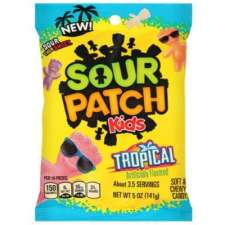 Nuevos Sour Patch sabor frutas tropicales