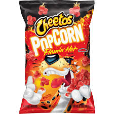 Nuevo lanzamiento de Cheetos, ¡Cheetos Pop Corn Flaming Hot! Crujientes palomitas de Maiz Mushroom, cubiertas de sazonador Flaming Hot, ¿Preparad@ para disfrutar de las palomitas más picantes que probarás jamás?