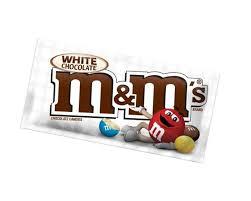 m&m relleno de crema de chocolate blanco