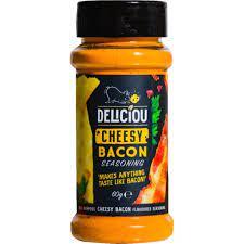 deliciou sazonador bacon y queso