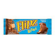Rocas de pretzel con caramelo cremoso, cubiertas de chocolate con leche