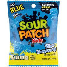 Edición Limitada de Sour Patch sabor Frambuesa azul.