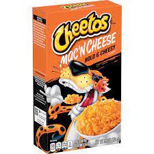 macarrones con queso cheddar de cheetos